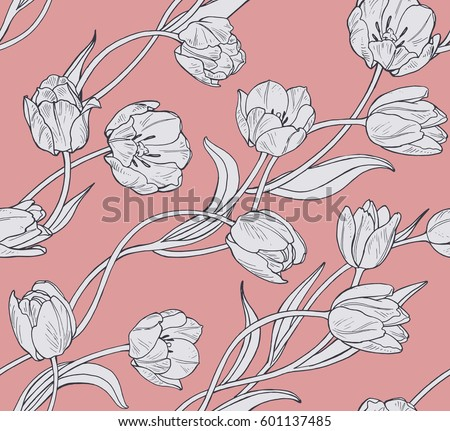 stock-vector-tulips-pink-floral-seamless-vector-pattern