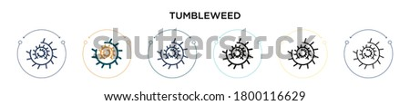 tumbleweed icon in filled  thin