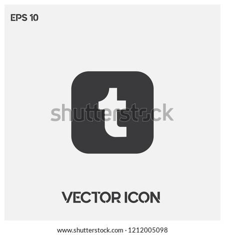Tumblr logo vector illustration.Tumblr  button icon vector.Premium quality.