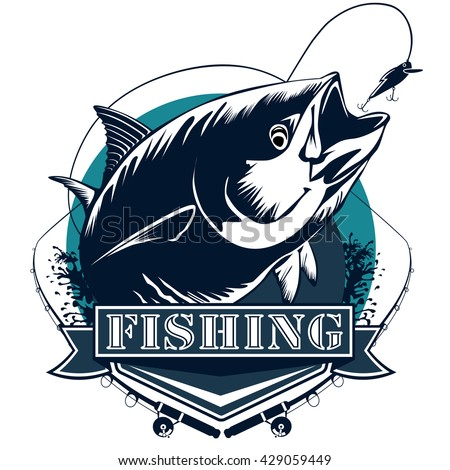 tuna fish tuna fishing emblem