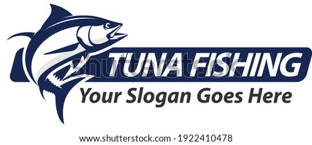 Tuna Fishing Logo. Unique and Fresh tuna Jumping, Great to use as your Tuna or Saltwater Fishing Logo.  Foto d'archivio ©