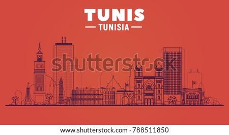 tunis    tunisia   city line
