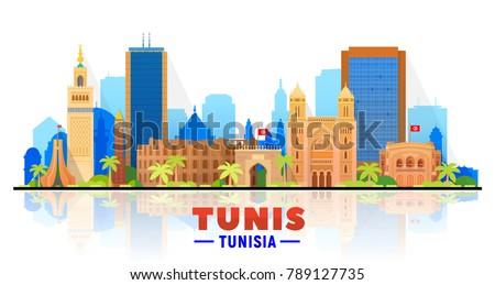 tunis    tunisia   city skyline