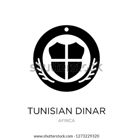tunisian dinar icon vector on white background, tunisian dinar trendy filled icons from Africa collection, tunisian dinar simple element illustration