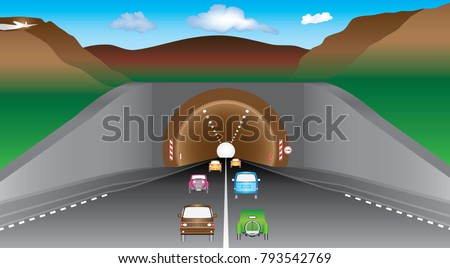 tunnel in mountains highway