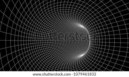 tunnel or wormhole abstract