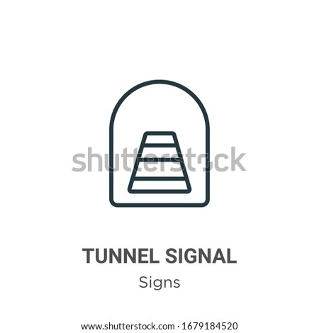 tunnel signal outline vector