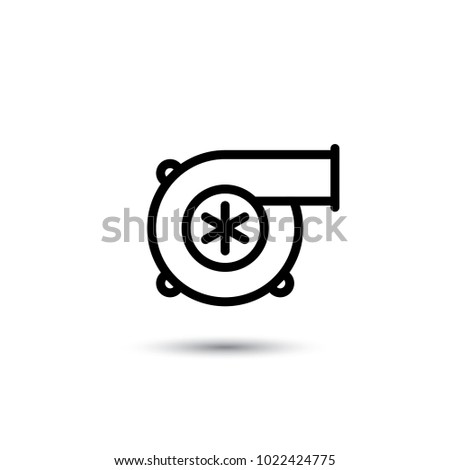 turbine icon, motor icon, turbo icon, vector illustration,eps10