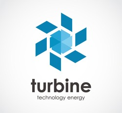 Turbine technology of circle energy abstract vector and logo design or template swirl business icon of company identity symbol concept