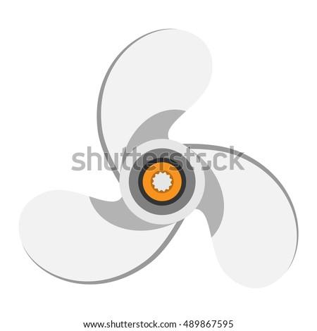 Turbines icons propeller fan rotation technology equipment
