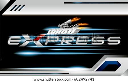 turbo express vector concept