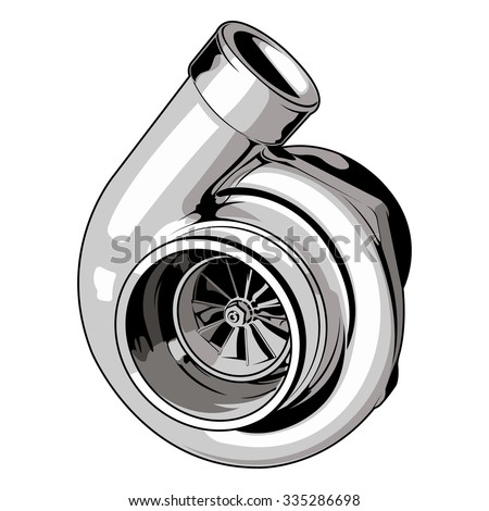 turbo on isolated white