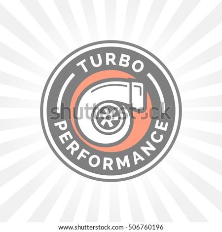 turbo performance icon badge