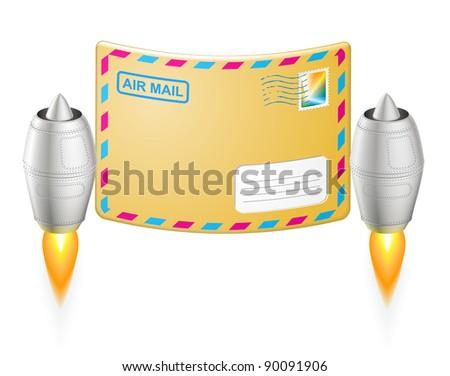 turbojet air mail envelope