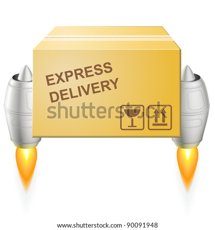 Turbojet express delivery postal box - EPS 8 vector icon