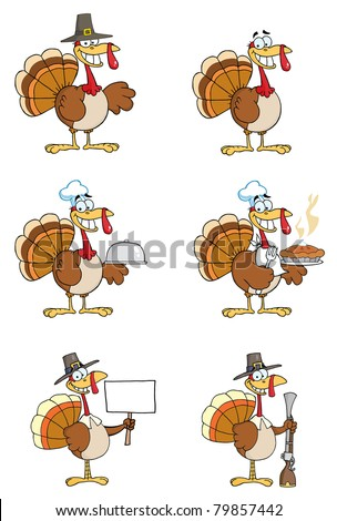 Turkey Cartoon Characters-Vector Collection