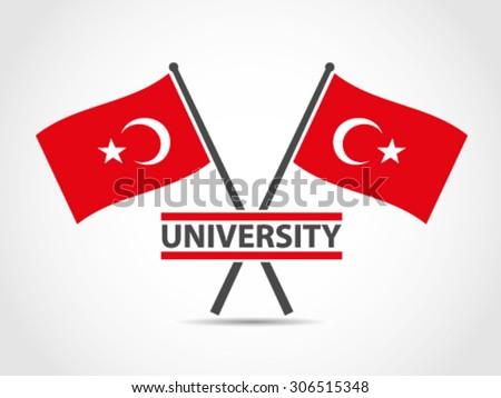 turkey cross flags emblem