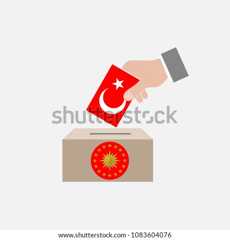 Turkey Elections Vote Box Vector Work, April 30, 2018, istanbul, Turkey