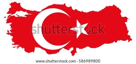 Turkey flag map