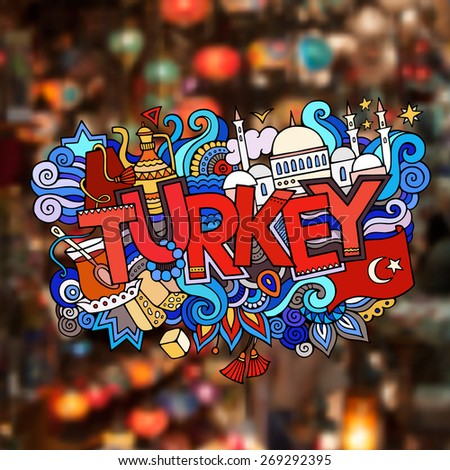 turkey hand lettering and