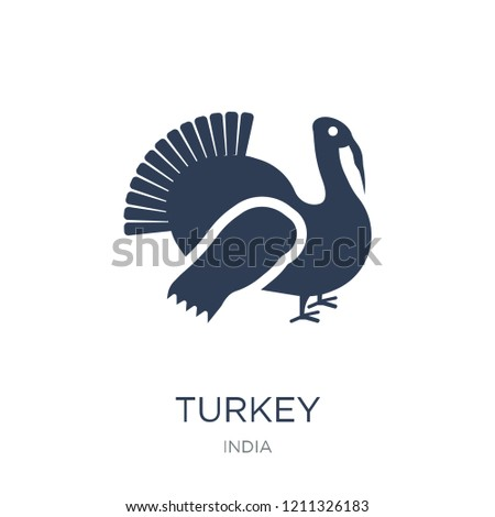 Turkey icon. Trendy flat vector Turkey icon on white background from india collection, vector illustration can be use for web and mobile, eps10