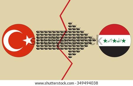 turkey iraq conflict creative