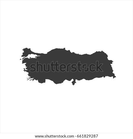 Turkey map vector. / Turkey  map.