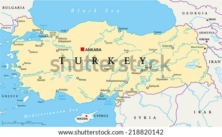 Free vector map of turkey free vector art at vecteezy turkey political map with capital ankara national borders most important cities rivers and gumiabroncs Image collections
