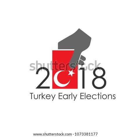 Turkey 2018 presidential election vector work(Turkish 2018 Turkiye Baskanlik Secimleri vektor calismasi)
