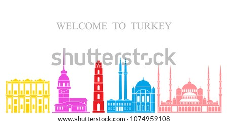 turkey set  isolated turkey