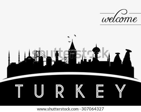 turkey skyline silhouette