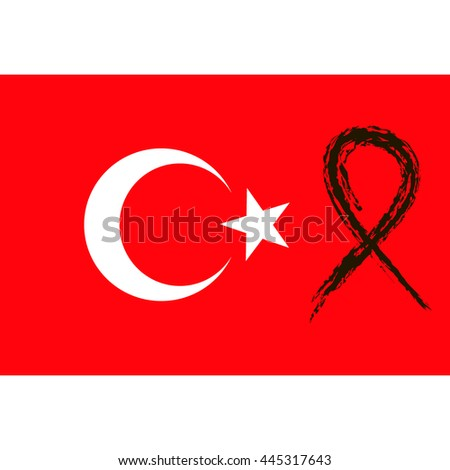 turkey terror   black ribbon