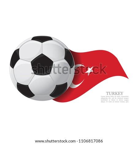 turkey waving flag with a