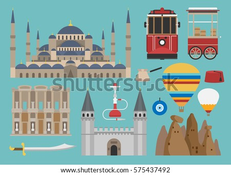 turkish flat illustration