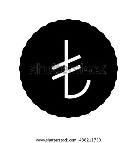 turkish lira icon  vector