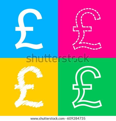 turkish lira sign four styles