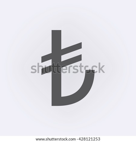 turkish lira sign  vector