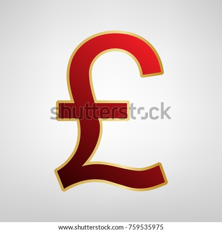 turkish lira sign vector red