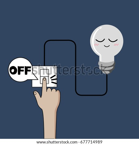 turn off light  finger turning