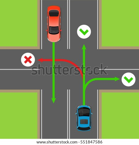 turn rules on four way