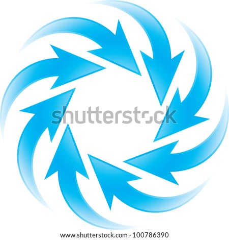 turning blue arrows