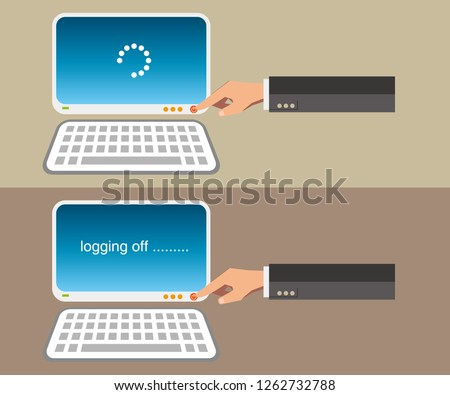 Turning on and Logging off computer with finger