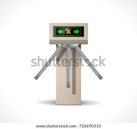 Turnstile Entrance - Metro station security system
