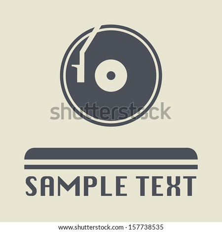 turntable icon or sign  vector