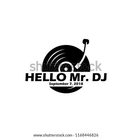 turntable or vinyl logo design