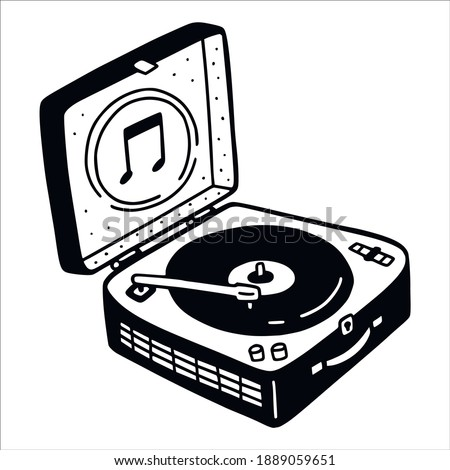 turntable record player in