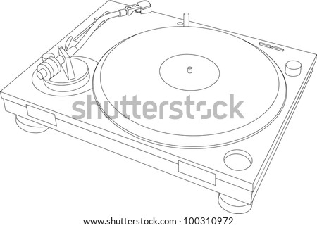 Turntable Wireframe