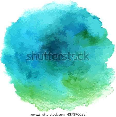 turquoise abstract watercolour