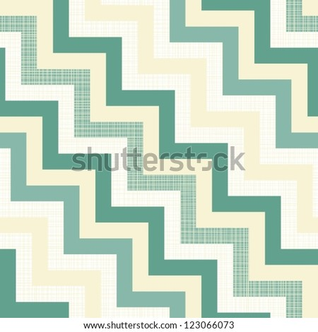 turquoise beige white chevron regular geometric seamless pattern
