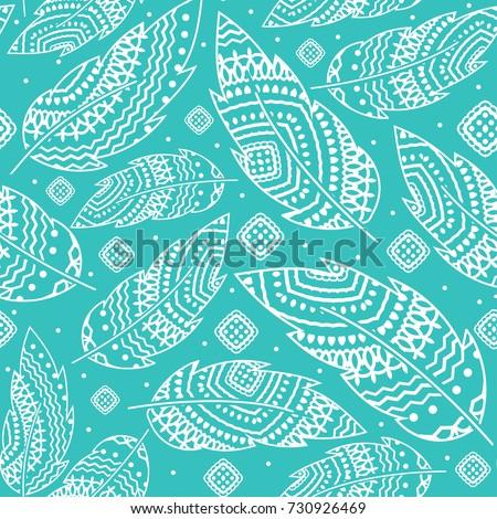 turquoise boho background with